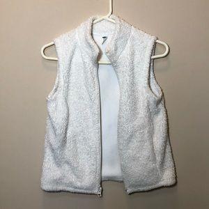 Sherpa-Style White Vest - Kid's XL